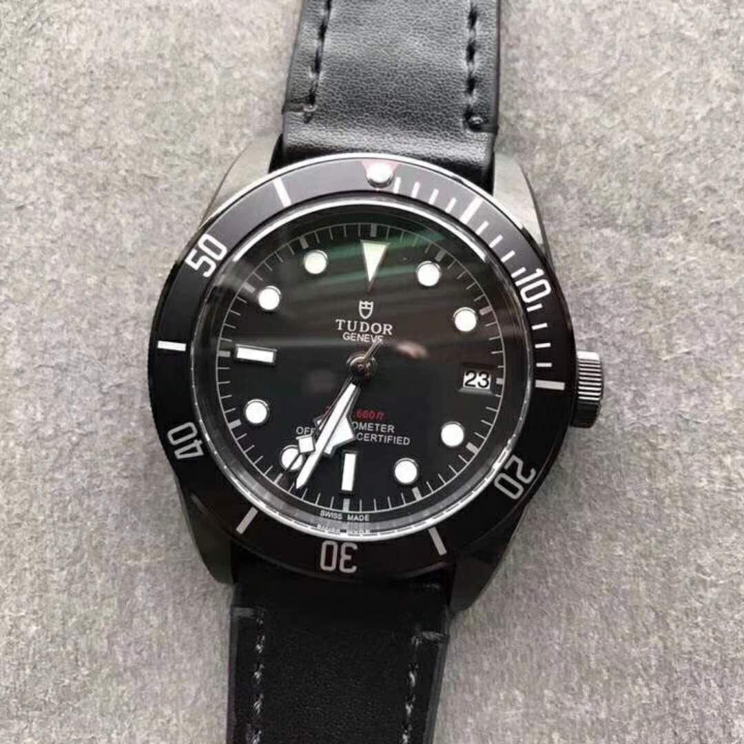 All Black Tudor Black-Bay Replica Watch